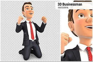 3D Successful Businessman