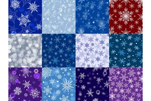 Snowflakes vector icons frozen frost star Christmas decoration snow winter flakes elemets Xmas holiday design illustartion