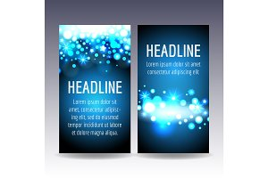 Bokeh blue lights flyer templates