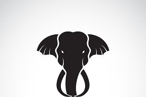 Vector of a elephant head design.