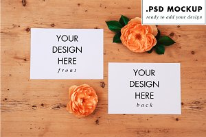 Wedding invitation mockups & flowers