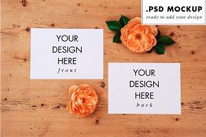 Wedding invitation mockups & flowers