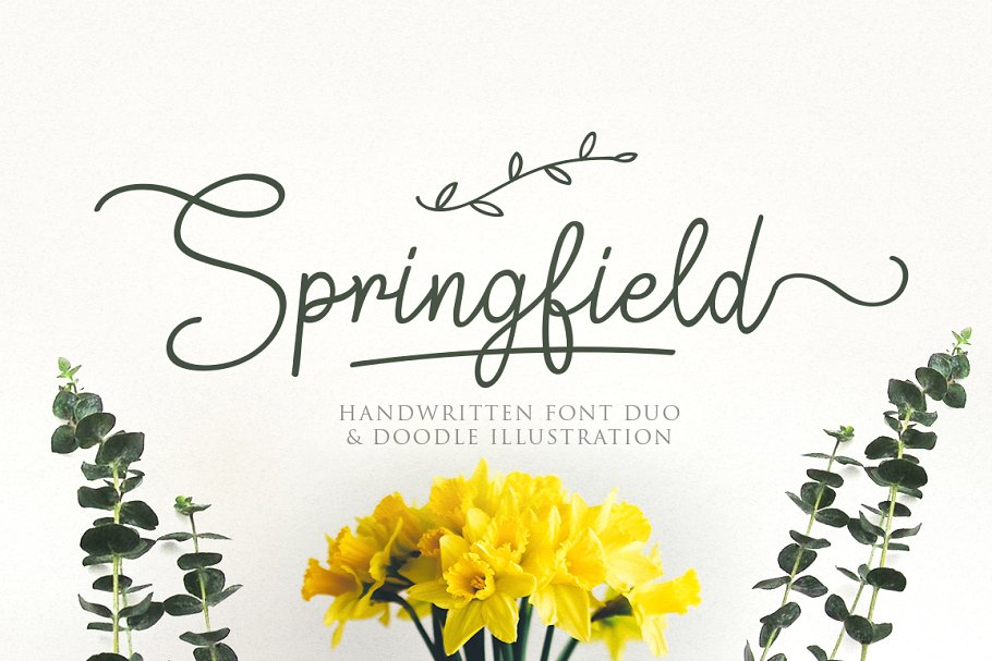 Best Springfield | Fontduo+Extras Vector