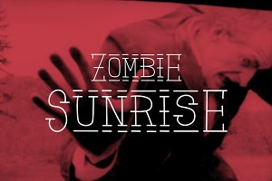 Zombie Sunrise font + patterns