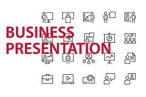 20  Business Presentation UI icons