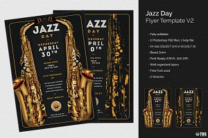 Jazz Day Flyer Template V2
