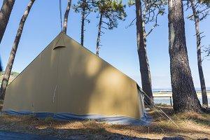 Camping in Cies Islands.
