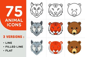 75 AMAZING ANIMAL VECTOR ICON PACKS!