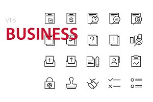 120 Business UI icons