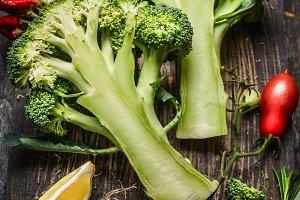 Healthily eating with broccoli