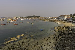 Coast of Illa de Arousa (Spain).
