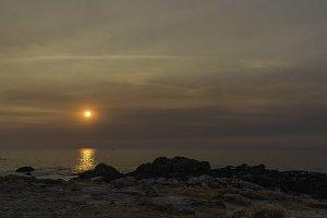 Sunset in Corrubedo coast.