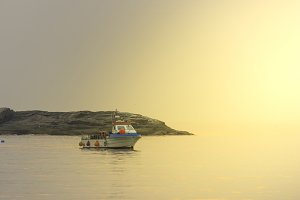 Fishing boat in Sanxenxo coast.