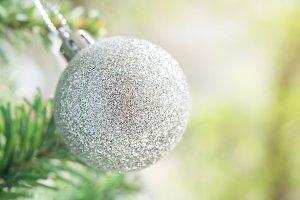 Silver ball for Christmas