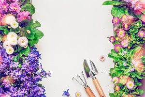 Floral Gardening background