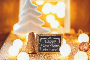 Christmas, New Year greeting card
