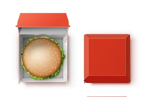 Container with Hamburger