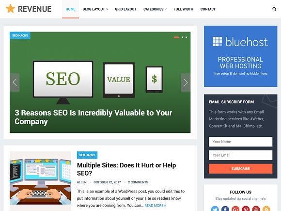 Revenue - Blog Magazine Theme ~ WordPress Magazine Themes ~ Creative ...