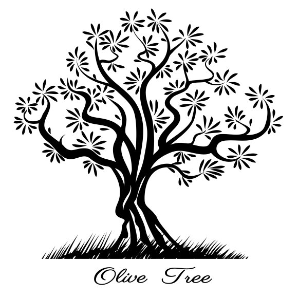 Olive Tree Silhouette Graphics Creative Market