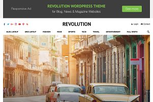 Revolution - Creative Magazine Theme