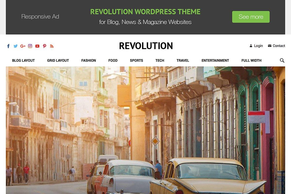 Revolution - Creative Magazine Theme