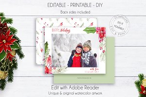Holiday Christmas Greeting Photocard