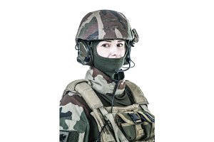 French paratrooper face portrait