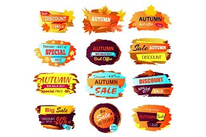 Best Discount Autumn Sale Vector Illustration