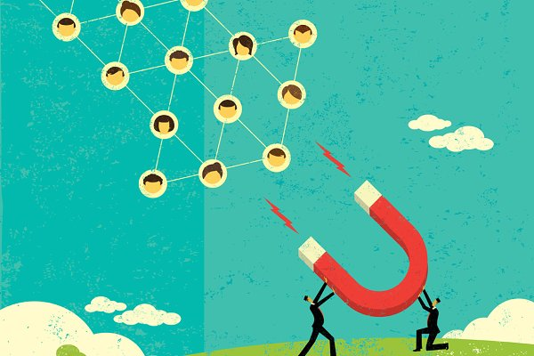 Attracting Social Networks