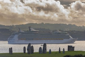 Cruise in La Coruna coast.