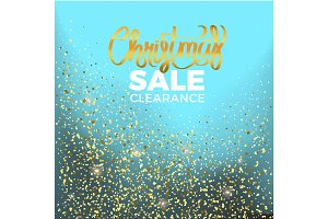 Christmas Sale Clearance Vector Illustration