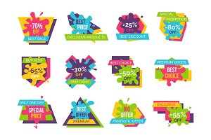 Best Price Exclusive Products Vector Illustration