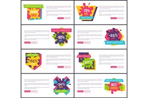 Premium Quality Super Sale Web Vector Illustration