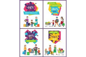 Best Discount -25% Off Placard Vector Illustration