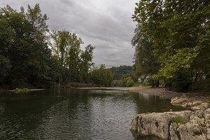 Sella river in Cangas de Onis.