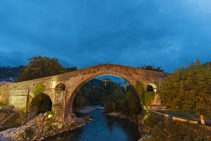 Roman bridge of Cangas de Onis.