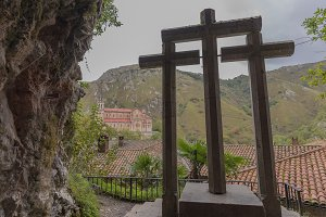 Crosses in Sanctuary of Covadonga.
