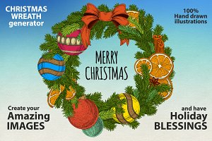 Christmas wreaths clipart
