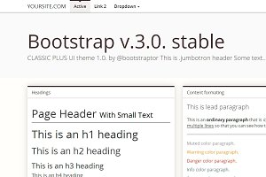 Bootstrap 3.0. mnml brown theme