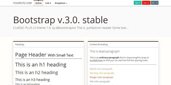 Bootstrap 3.0. mnml brown theme - Bootstrap