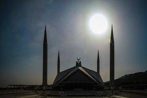 Faisal Mosque in Islamabad capital of Pakistan