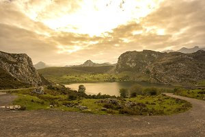 Enol lake (Lakes of Covadonga).