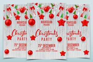 Festive Flyer for Christmas Party