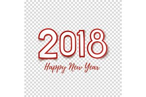 Happy New Year 2018 abstract design template.