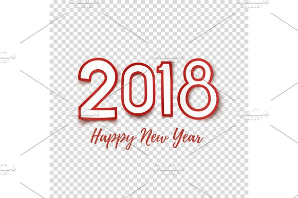happy new year 2018 abstract design template objects