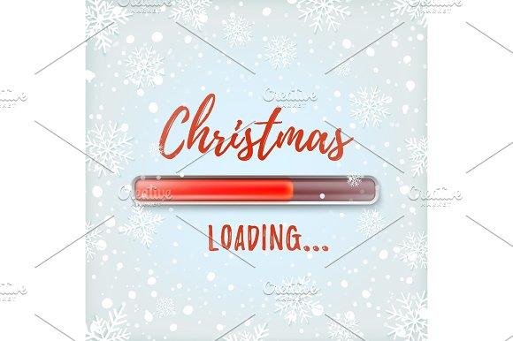 Christmas loading. Abstract design.