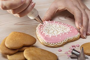 Heart-cookie decoration.