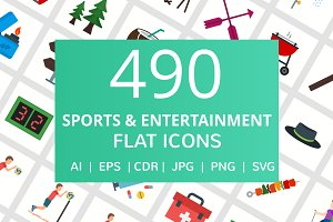 490 Sports & Entertainment Flat Icon