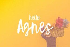 Hello Agnes Font