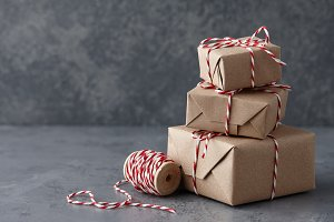 Christmas gift or present boxes